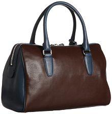 Coach-Legacy-Two-Tone-Leather-Haley-Satchel Blue-Brown-HandBag-25807-angle-view_CoachHandbag.ca_