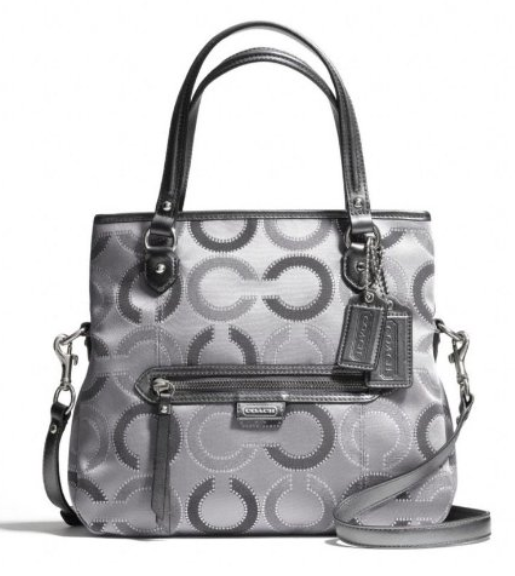 Coach-Womens-23123E-Daisy-Dot-Outline-Signature-Metallic-Mia-Crossbody-Bag-Silver-Grey